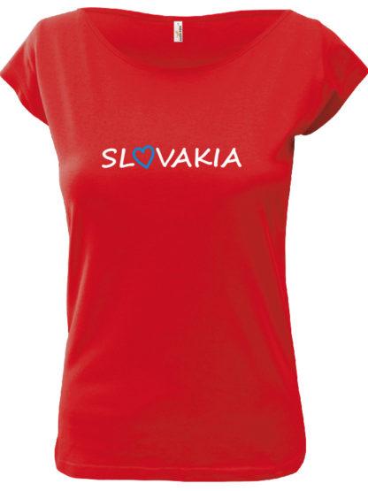 Dámske tričko Slovakia Elegance - červené