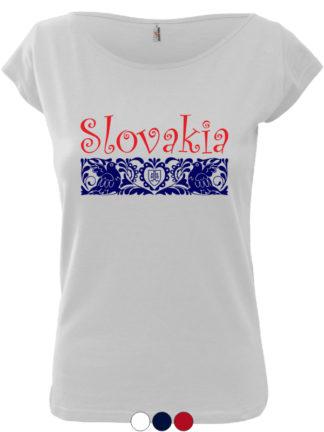 Dámske tričko Slovakia Elegance Folk