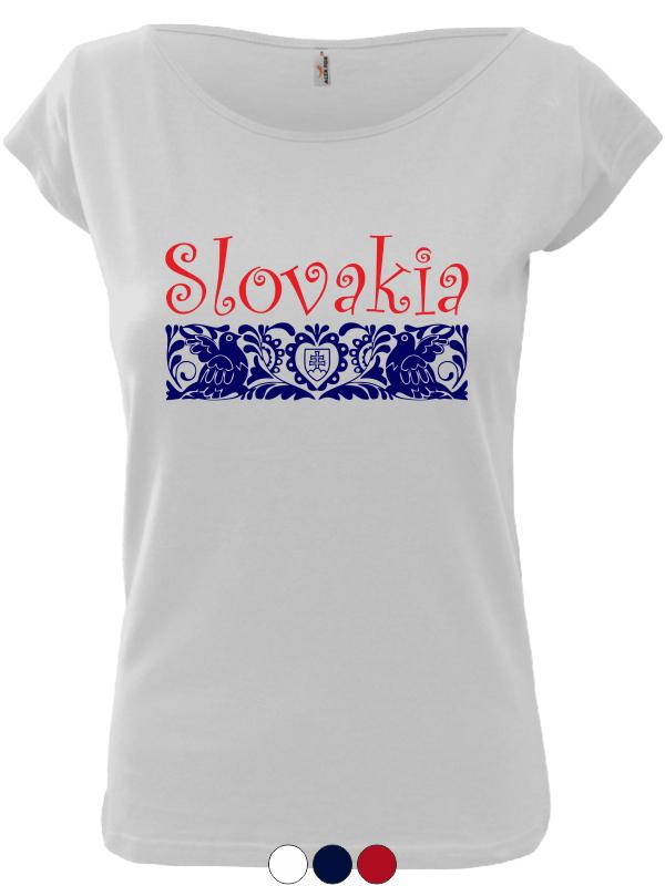 f6749f046921 Dámske tričko Slovakia Elegance Folk - SlovakiaFans.sk
