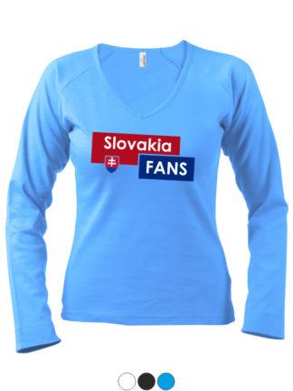 Dámske tričko Slovakia Fans - modré