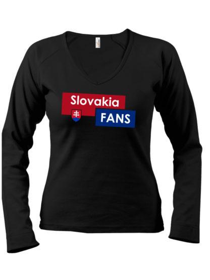 Dámske tričko Slovakia Fans - čierne