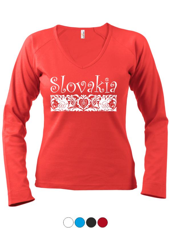 36b7785d5 Dámske tričko Slovakia Folk - SlovakiaFans.sk