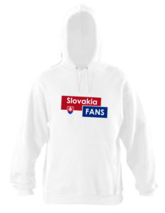 Pánska mikina Slovakia Fans - biela