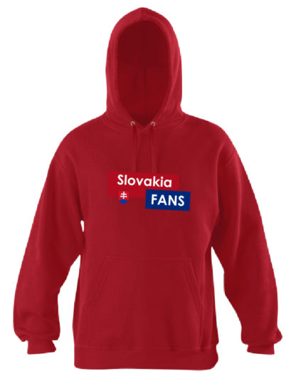 Pánska mikina Slovakia Fans - červená