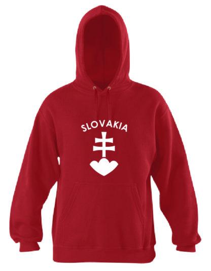 Pánska mikina Slovakia National Proud - červená