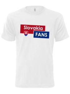 Pánske tričko Slovakia Fans - biele