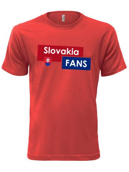 Pánske tričko Slovakia Fans - červené
