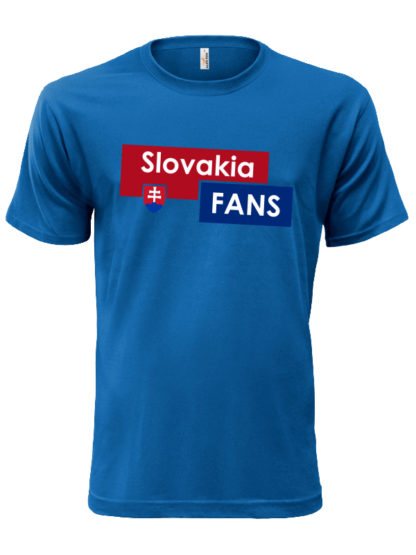 Pánske tričko Slovakia Fans - modré