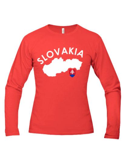 Pánske tričko Slovakia Land - červené
