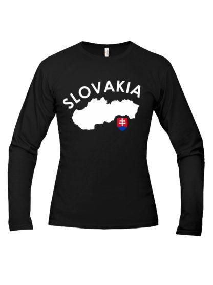 Pánske tričko Slovakia Land - čierne