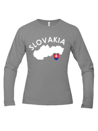 Pánske tričko Slovakia Land - sivé