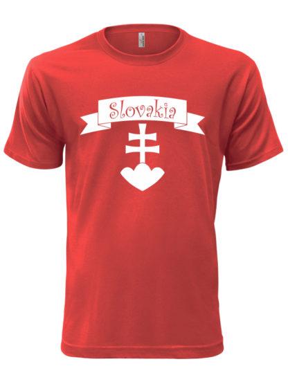 Pánske tričko Slovakia Retro Erb - červené