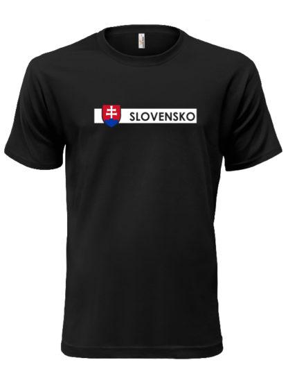 Pánske tričko Slovensko Line - cierne