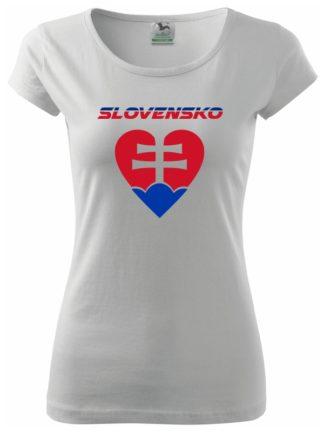 Dámske tričko Milujem Slovensko