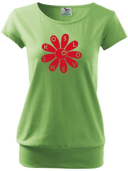 Dámske tričko Slovenská kvetinka - zelená