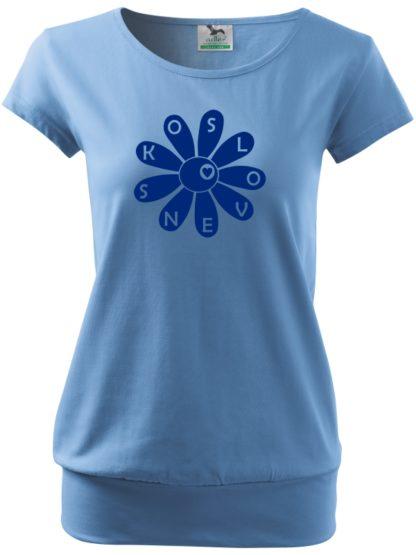Dámske tričko Slovenská kvetinka - modré