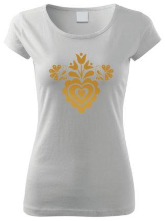 Dámske tričko Zlaté Spevavé srdiečko 2