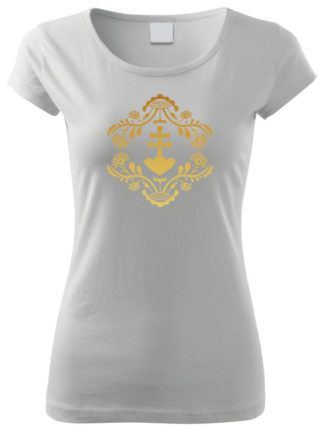 Dámske tričko Zlatý Retro Erb 2