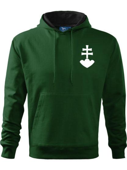 Pánska mikina zelený 2kríž
