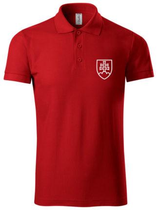 Pánska polokošeľa Slovakia červená