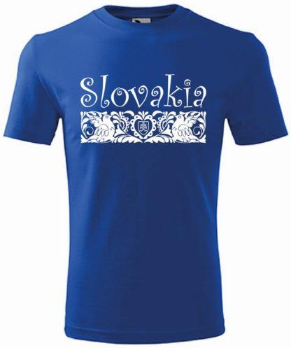 Pánske tričko Slovakia Elegance Folk - modré